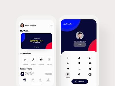 Wallet App Design design app ui