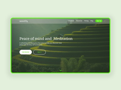 Landing Page Exploration explore uidesign ui webdesign web landingpage