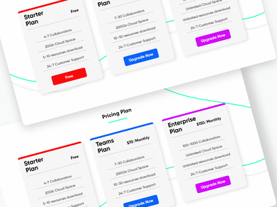Pricing Section Exploration | Dribbble product ux webdesign pricing plan explore ui