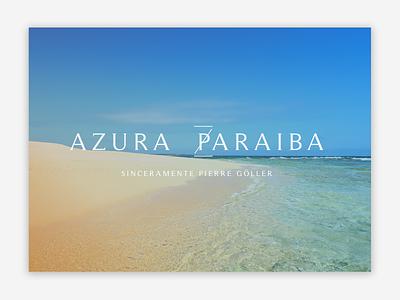 Azura Paraiba branding design logo