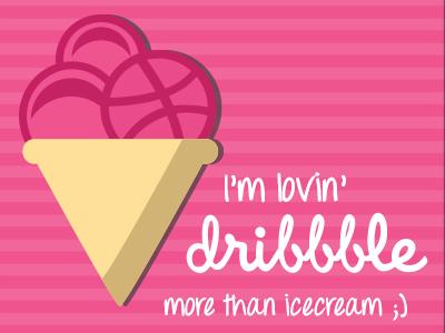 Lovin' Dribbble thank you dribbble