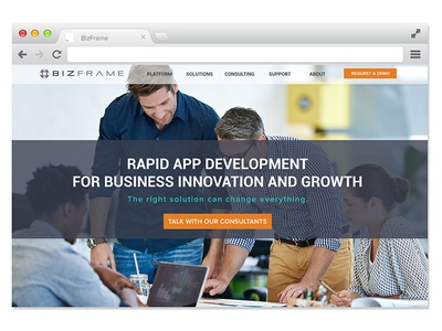 Homepage interaction design web design