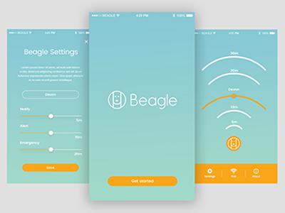 Beagle App ui branding mobile application