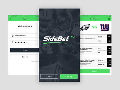 SideBet.TV design app