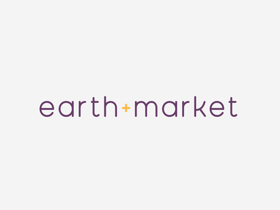 Earthmarket Logo ui ux design logo