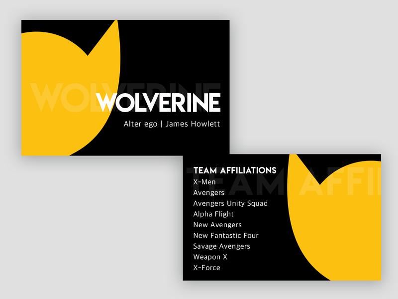 Wolverine B-card - Weekly Warmup branding logo design