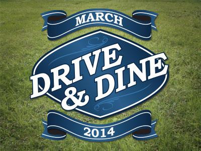 Drive & Dine logo golf banner