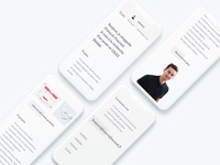Personal website - Mobile version