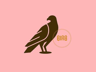 Birb brown pink illustration graphicdesign creative design vector animal wing hawk birb bird
