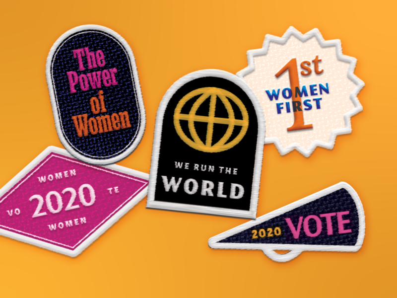 Supermajority Patches lineart 2020 women vote creative type illustration graphicdesign design patches supermajority