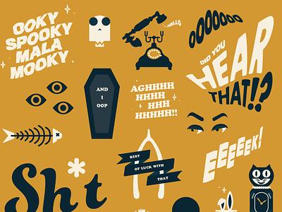 Vectober inktober spooky creepy magic coffin ghost october vectober typogaphy type vector illustration graphicdesign creative design