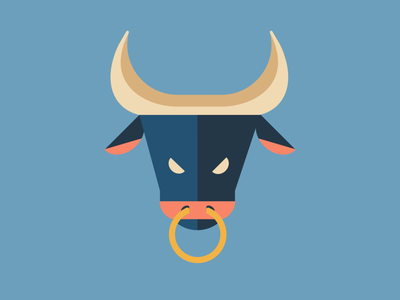 Year of the Ox 2021 babe bull series blue vector illustration graphicdesign creative design lunar lunarnewyear ox