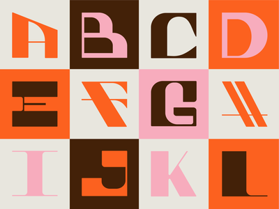 Part 1: 36 Days of Type 2021 alphabet letters 36daysoftype08 36days 36daysoftype series customtype retro brown pink orange typogaphy type graphicdesign creative design