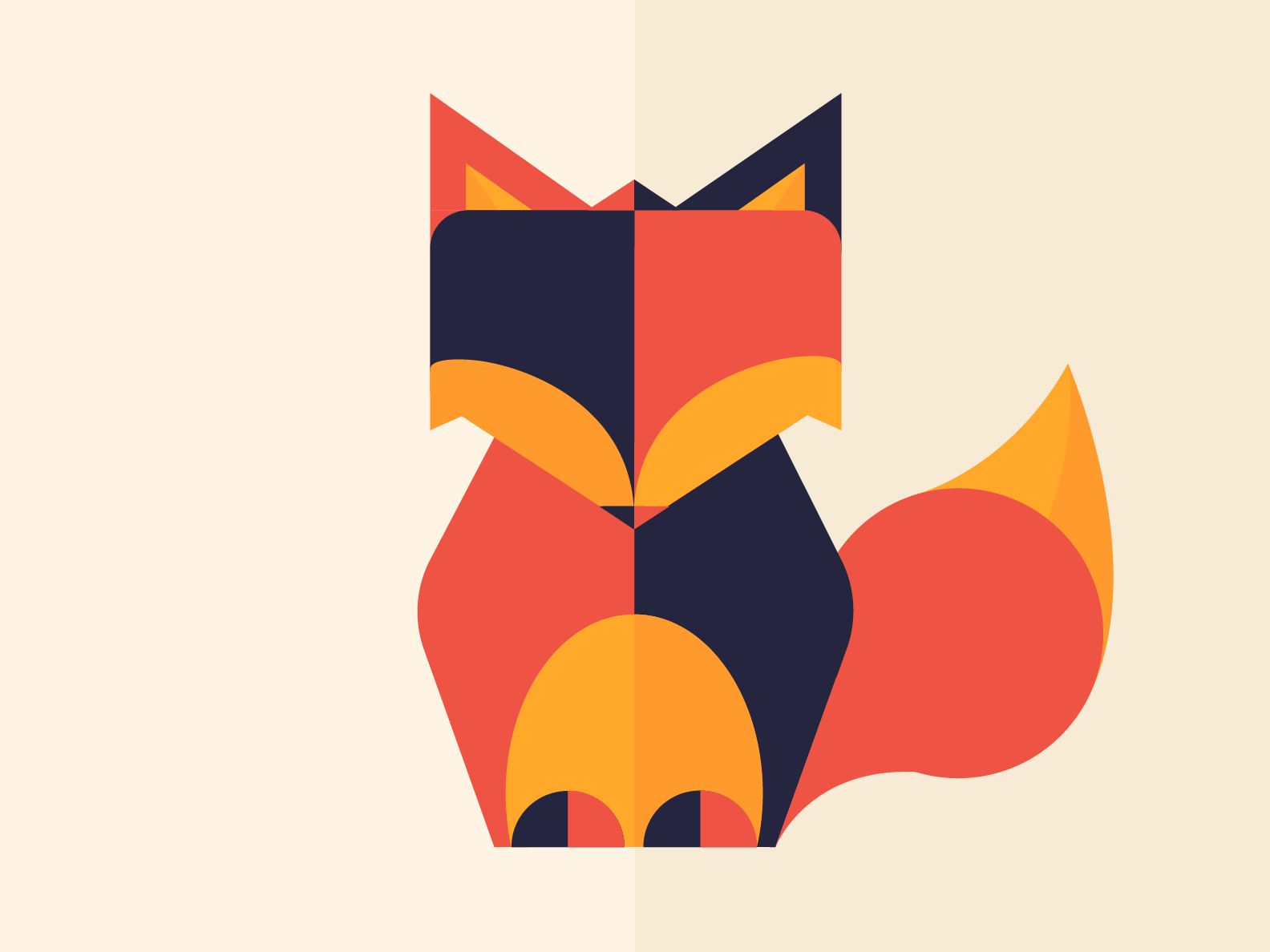 Fox geometric creative colors fox illustration graphicdesign design