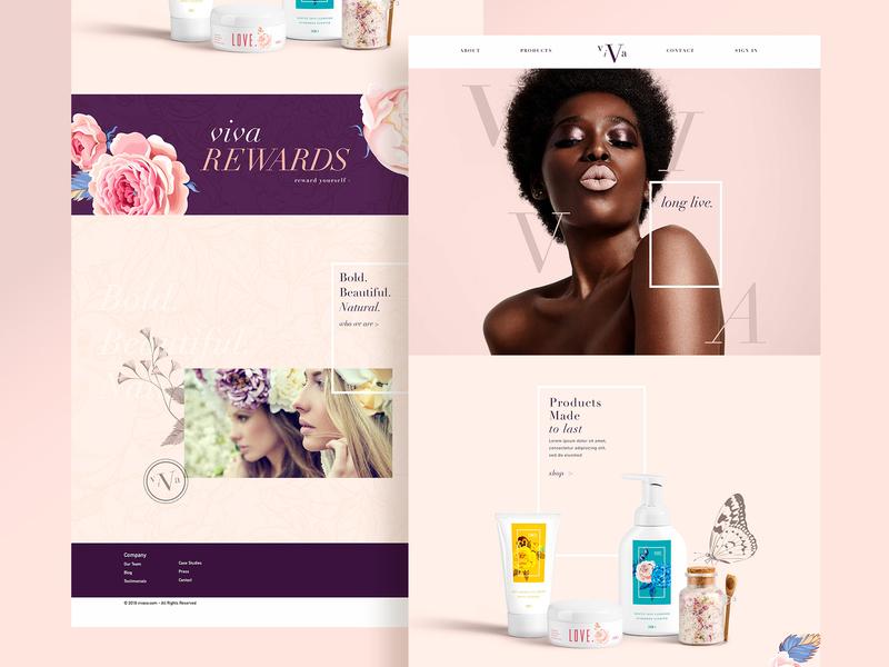 VIVA Beauty Landing Page landing page landing website creative modern clean viva webdesign web beauty graphicdesign design