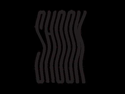 Shook shocked shock warped curvy wavy typogaphy type shook creative graphicdesign design