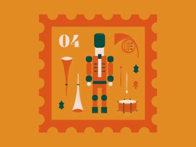 The Nutcracker december illustration vectors creative design graphicdesign design stamp bell drums french horn trumpet christmas nutcracker