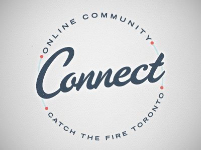 Connect 2 connect online community circular typography script logo blue