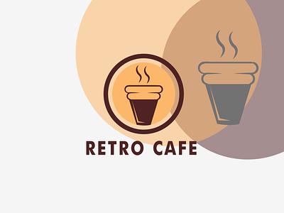 RETRO CAFE icon coffe bean logo for coffe house coffe house cafe coffe vector illustration logo design