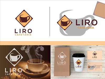 LIRO CAFETARIA graphic design branding logo illustration icon design coffe house coffe bean coffe cafe