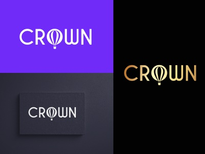 CROWN balloon hot air balloon graphic design logo design word mark branding logo illustration icon design