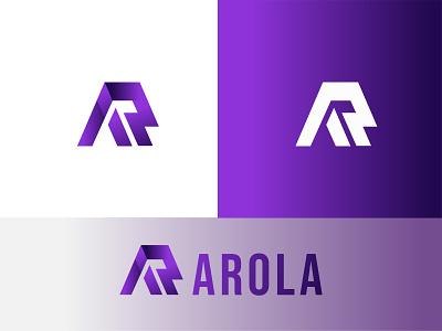 AR Letter letter mark logo lette r mark vector graphic design logo design branding logo illustration icon design