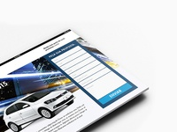 A landing page for a VW seller.