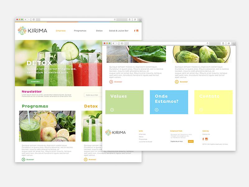 Kirima - Website ux ui webdesign