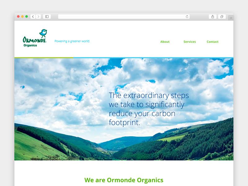 Ormonde Organics - Website one page ux ui web