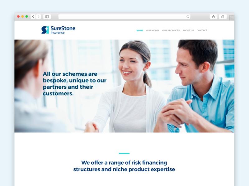 Surestone - Website one page ux ui web