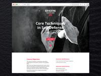 Ken Keating logo and website design.
