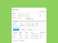 Detailed Booking Interface