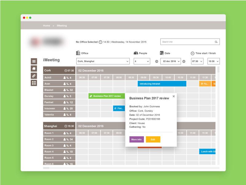 Intranet Calendar calendar ux ui microsoft interface form contact booking arial