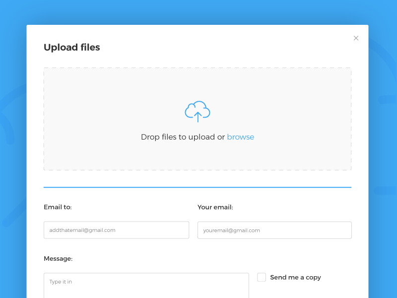 Upload Files Popup popup web uploader upload ux ui minimal
