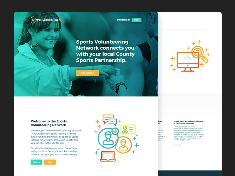 Sports Volunteering Redesign ux ui sports web