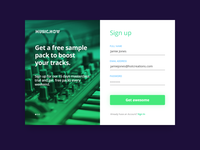 Sign Up form - Daily UI - #001