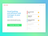 Landing Page (above the fold) - Daily UI - #003