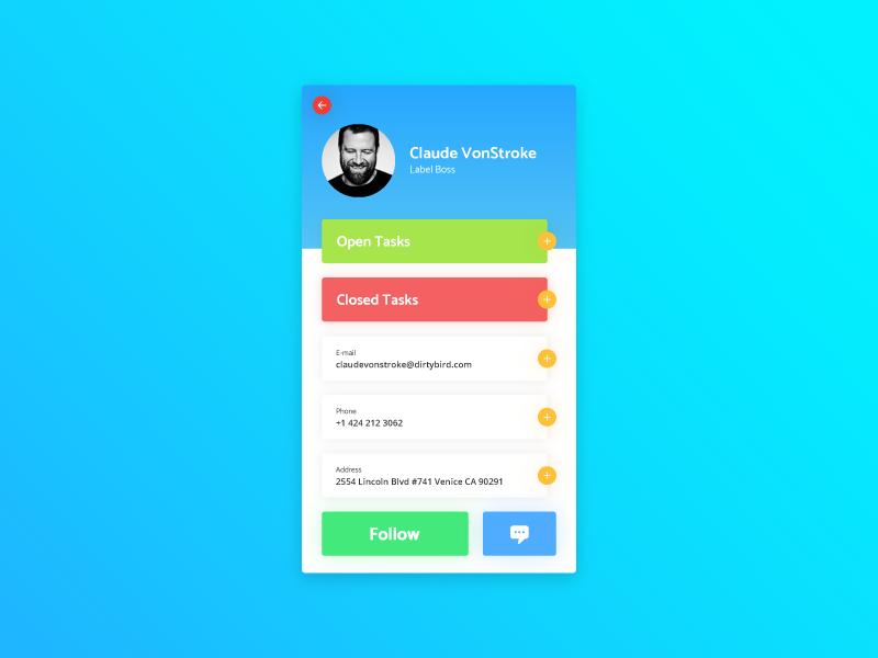 User Profile - Daily UI - #006 profile user ux ui daily