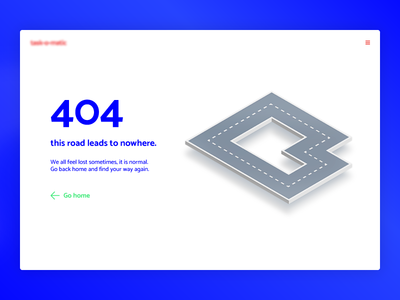 404 Page - Daily UI - #008 isometric 404 ux ui daily