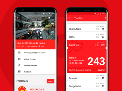 Interface: Continente's profile & cue tickets android market app app continente portugal store supermarket