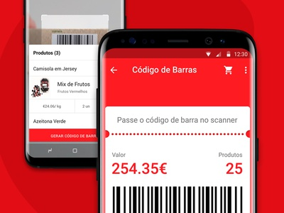 Interface: Continente's barcode list and payment