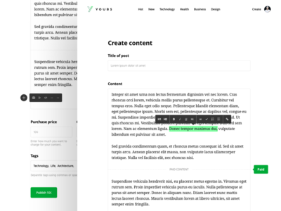 Yours.org: Create article page
