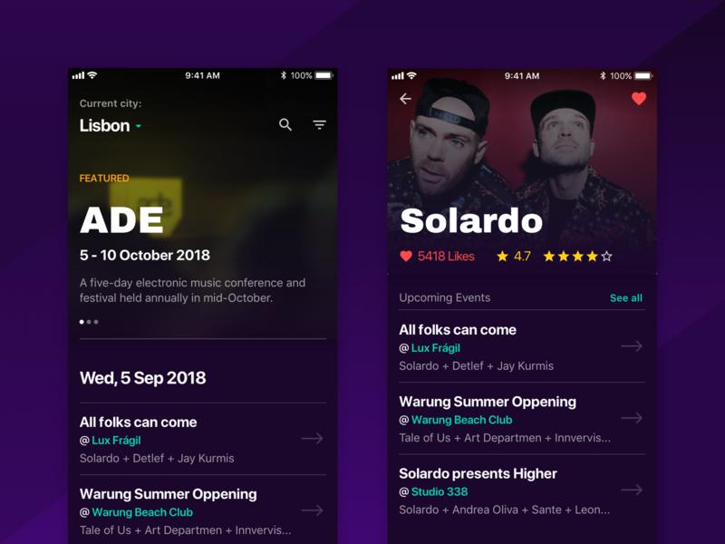 Party App mobile events tickets party concept app ux ui
