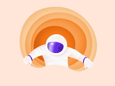 Spaceman From Mars color drawing brush gradient digital shadow vector photoshop illustrator texture graphic view planet spaceman mars space design