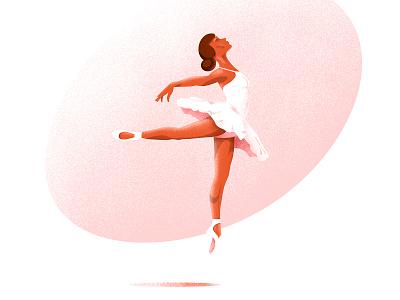 Ballerina jump light pink texture digital art graphic design graphic design dress white dance color ballet woman grain illustration shadow vector ballerina