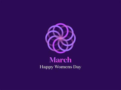 8 March womans day logo design logotype vector beautiful ornament logo gradient design woman flowers flower heppy 8 march march 8 international womens day