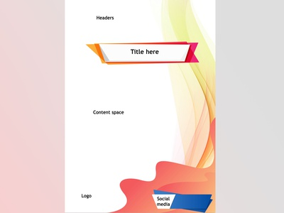 Vertical poster - outline simple webinar simple seminar poster design poster postcard basic