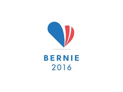 Bernie Sanders flat stripes logo heart 2016 politics sanders bernie rebound