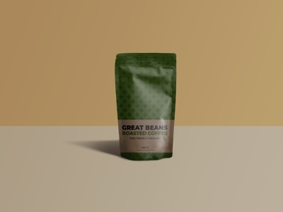 Great Beans Roasted Coffee Packaging packagedesign packaging beans