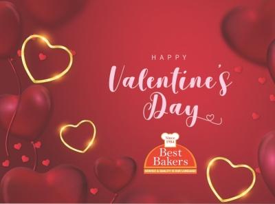 Valentines day sticker design